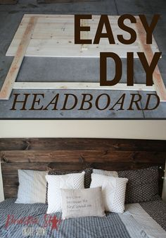 Economical and chic - DIY projects and home decor moreDIY How to make your own wooden headboard wooden headboard! do I create a padded headboard for a bed? Diy Wood Projects, Furniture Projects, Home Projects, Diy Furniture, Furniture Design, Chair Design, Design Design, Modern Design, Furniture Removal