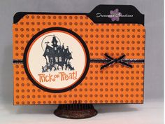 Halloween File Folder card by DreamiasCreations on Etsy