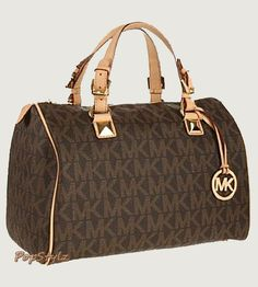 Michael Kors Logo Grayson Large Satchel