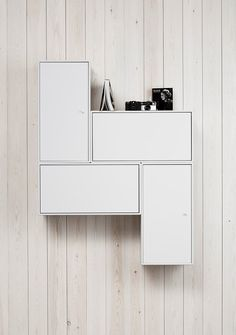 White storage + styled display
