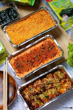 Baked Sushi Recipe, Sushi Rice Recipes, Samgyupsal Recipe, Sushi Bake, Nori Seaweed, Food Flatlay, Seafood Soup, Baked Fish, Food Preparation
