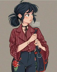 Miraculous ladybug and chat noir marinette fanart outfit drawings, girl drawings, cute Cute Art Styles, Cartoon Art Styles, Cartoon Girl Drawing, Cartoon Drawings, Drawings Of Girls, Cute Girl Drawing, Cute Drawings Of People, Girl Drawing Pictures, Little Girl Drawing