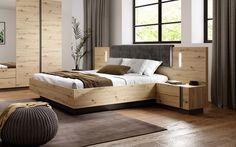 Lit 160x200 cm + 2 chevets ARCOMA Imitation chêne et gris - 😍Découvrir ici - #Chevet #meubleschambre #Litpascher #LitAdulte #BUT #meublespascher #Lit