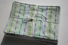 Great deal! Dish Cloth  set of 6  Purple/Green waves by peckcloths on Etsy, $17.00
