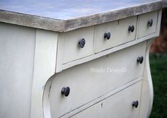 Empire Dresser Refinished in Old White Chalk Paint - Shizzle Design