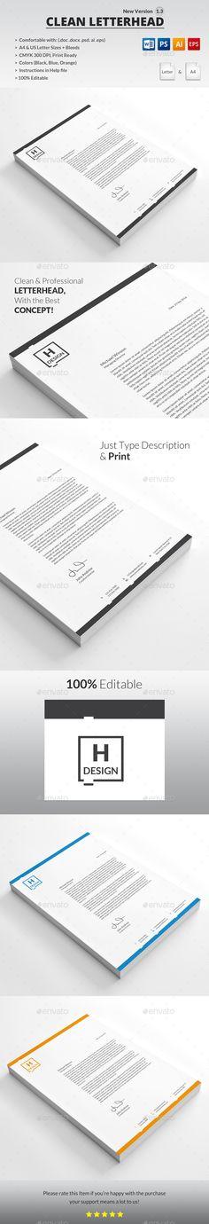 35+ Fabulous Psd Letterhead Templates To Print! | Free & Premium