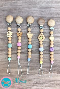 Excited to share this item from my shop: Wooden pacifier clips - Beaded Pacifier Clip - Baby Soother - Pacifier Holder - Silicone Pacifier Clip - Crochet Pacifier Clip Crochet Pacifier Clip, Pacifier Clips, Pacifier Holder, Baby Knitting, Crochet Baby, Dummy Clips, Baby Rattle, Sewing For Kids, Baby Bibs