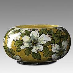 John Bennett, bowl with Dogwood blossoms, 1882