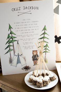 We see a lot of camping birthdays come through Cakelet, but aren't they always just so cute? Love how everyone has their own interpretation of this outdoorsy, even wintery theme. Cruz's mama was inspi