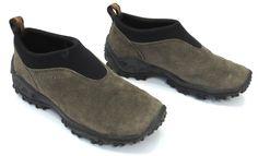 Merrell 6 Winter Moc Gunsmoke Brown Taupe Suede Air Cushion Womens Slip On Shoe