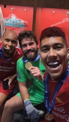 Brazilian trio Roberto Firmino, Fabinho and Alisson pose for a photograph Ynwa Liverpool, Liverpool Football Club, Liverpool Tattoo, Liverpool History, Liverpool Fc Wallpaper, This Is Anfield, Chelsea, You'll Never Walk Alone, Love