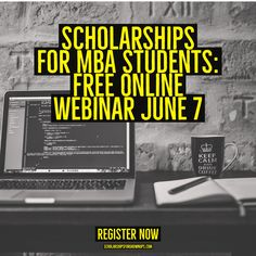 If you or a friend has considered an MBA, check out this free webinar:  http://scholarshipsforgrownups.com/mba-scholarships-webinar/ #mbadegree  #mba  #college
