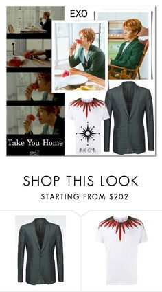 """""""EXO Baekhyun oppa new solo on 14 April / Take You Home"""" by smile2528 ❤ liked on Polyvore featuring Emporio Armani and Marcelo Burlon"""