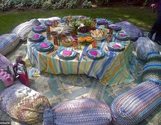 Margherita Missoni's gypsy wedding table settings in Brunello