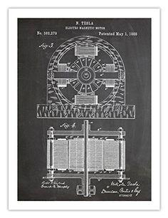 TESLA ELECTRIC MOTOR POSTER BLACKBOARD 1888 PATENT PRINT ... https://www.amazon.com/dp/B016XA3PIO/ref=cm_sw_r_pi_dp_3tRGxbK94SZWF