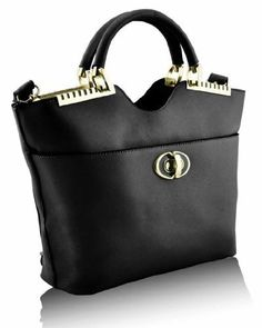 f9d814bc885df KCMODE Ladies Designer Black Gold Framed Tote Shoulder Handbag KCMODE to  enter online shopping or purchase