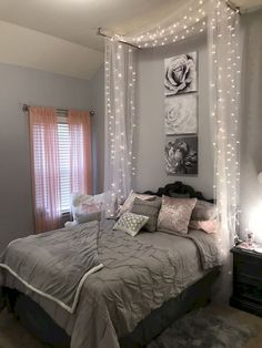 Stupendous Useful Ideas: Minimalist Home Bathroom Toilets minimalist bedroom decor men.Minimalist Bedroom Decor Quartos minimalist decor wood home office. Pallet Bed With Lights, Bed Lights, Bed Canopy With Lights, Light Canopy, Canopy Over Bed, Curtains With Lights, Room Decor With Lights, Teen Room Lights, Window Lights