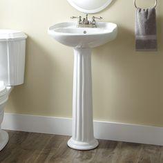 Victorian Porcelain Mini Pedestal Sink
