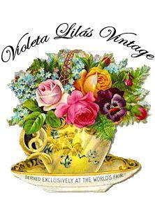 selo de divulgação do blog com uma xícara de flores.
