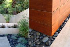 modernist landscape design with river rocks - Google Search