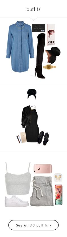 """outfits"" by mariajosevflorez ❤ liked on Polyvore featuring Warehouse, Balmain, Casio, Topshop, Givenchy, Kylie Cosmetics, NIKE, H&M, MCM and Michael Kors"