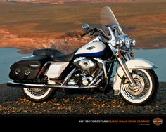 Harley Davidson Road King.  I'm not much of a hog fan howevs, there are bikes that you know own it. This, IMO, is definitely one of them.