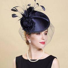 Wedding hat,Fascinator,Fascinator Hat,Garden Party Hat,Church Hat, Derby Hat, Fancy Hat,British Hat, Mini Hat Lady' Gift OZL003 by sdtxlsd on Etsy