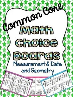 4th Grade Common Core Math Choice Boards {Measurement and Geometry} | Jennifer Findley | {4}