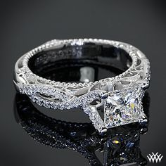 Verragio Pave Twist Diamond Engagement Ring. With a round cut diamond .. I LOVE THIS!!