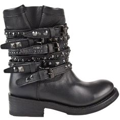 ASH Tempt Biker Boots found on Polyvore
