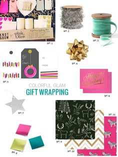 Gift Wrapping: Colorful Glam   Modern Eve