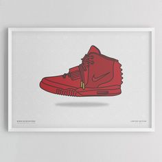 Yeezy 2 Red October Print by Kick Posters - $28