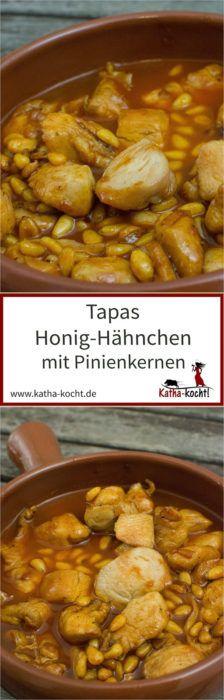 Tapas Honig-Hähnchen mit Pinienkernen