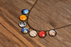 My kind of jewelry! The Solar System on a chain