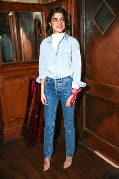 """The Man Repeller recaps her favorite NYFW outfits in """"The What I Wores."""" Here she is in The 3x1 Oversized Classic Shirt in Penn"""