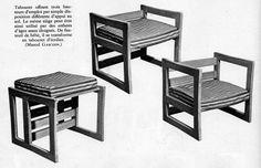 Tabouret 3 positions - Marcel Gascoin - Arhec - 1951
