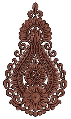 Simple Embroidery Design 14220 Indian Embroidery Designs, Types Of Embroidery, Machine Embroidery Designs, Laser Art, Persian Motifs, Art Nouveau Design, Embroidery Transfers, Stained Glass Designs, Rangoli Designs