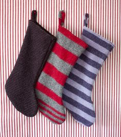 felted wool stockings