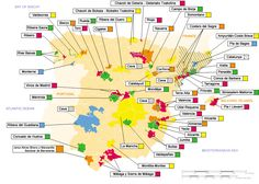 Map of Spanish #Wine Regions or D.O.'s