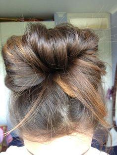messy bun. My signature hair style on my lazy days :)