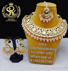 Punjabi Traditional Jewellery, Bridal Chura, Golden Jewelry, Mirror Work, My Etsy Shop, Check, Handmade, Color, Products