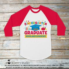 Camiseta de graduación Kinder  niños Raglan o T Shirt
