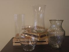Here are a few examples of the types of vases we carry! www.bloominggalsbouquets.com http://on.fb.me/1BT3HNz