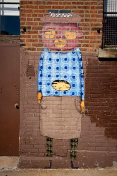 Os Gemeos are the identical twins Otávio and Gustavo Pandolfo, born in São Paulo, Brazil, in 1974 #streetart