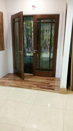 Walnut french doors