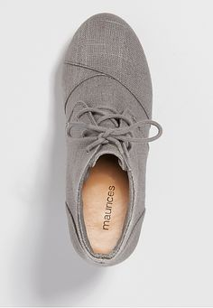 tali lace-up wedge in gray - maurices.com