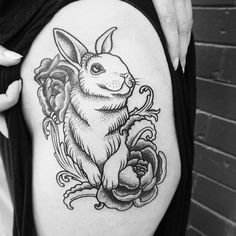 Adorable rabbit tattoo