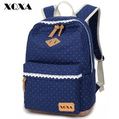 XQXA Ethnic Women Backpack for School Teenagers Girls Vintage Stylish Ladies Bag Backpack Female Dotted Printing High Quality -- Click image for more details.