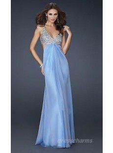 A-Line Chiffon Sweetheart Long Dress Charm87706
