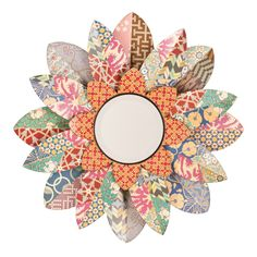 Have to have it. Multicolored Blossom Mirror - 33W x 33H in. - $149.99 @hayneedle